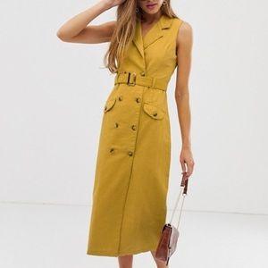 ASOS DESIGN sleeveless trench dress